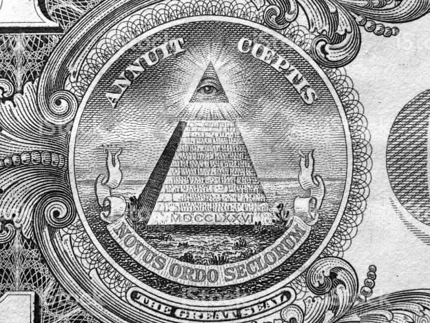 Laisvųjų mūrininkų simbolika. (JAV doleris)