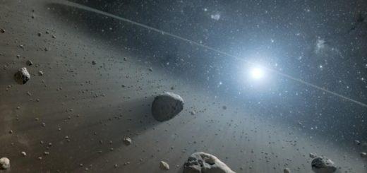 Asteroidų žiedo, kuris yra aplink Vegos žvaigždę dailininko įsivaizdavimas (NASA)