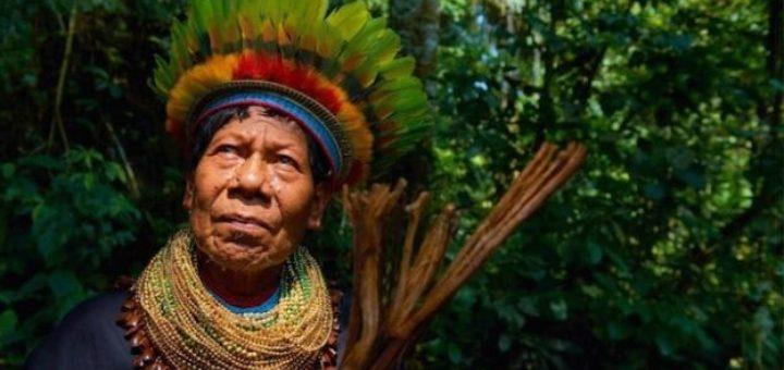 Nežinomas pietų Amerikos šamanas iš Secoya genties