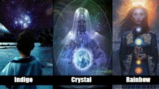 Indigo, Kristaliniai ir Vaivorykštės vaikai