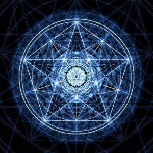 Pentagramos geometrija.