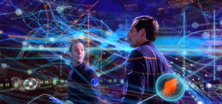 Šaltasis laiko karas - Džonatanui Arčeriui demonstruoja laiko linijas, laiko agentas Daniels iš 29 amžiaus (Star Trek - ENT).
