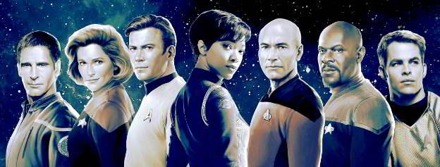Star Trek kapitonai (Paramount).